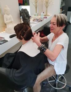 Gaby schneidet Haare